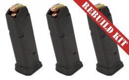 Bundle: 3x MAGPUL PMAG FOR GLOCK 17 17RD BLK - Rebuild Kits