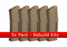 Pack: 5x MAGPUL PMAG M3 5.56 WINDOW 30 Round - MCT - Rebuild Kits