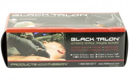 NAR GLOVES BLACK NITRILE MED 50 PAIR